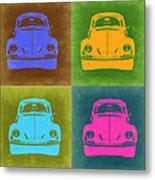 Vw Beetle Pop Art 6 Metal Print by Naxart Studio