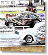 Vw Beetle Race Metal Print