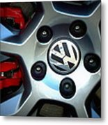 Vw Gti Wheel Metal Print