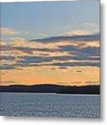 Wachusett Reservoir Sunset Metal Print