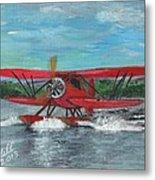 Waco Cabin Biplane Circa 1930 Metal Print