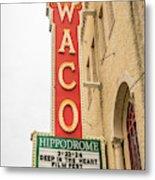 Waco Movie Theater With Sign, Waco Metal Print