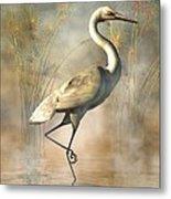 Wading Egret Metal Print