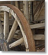 Wagon At The Hacienda II Metal Print