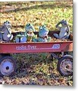 Wagon Full Of Frogs Metal Print