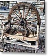 Wagon Wheel Chair Metal Print