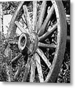 Wagon Wheel - No Where To Go - Bw 01 Metal Print