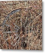 Wagon Wheel_7438 Metal Print