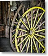 Wagon Wheels Metal Print by Colleen Kammerer