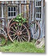 Wagon Wheels In Color Metal Print by Crystal Nederman