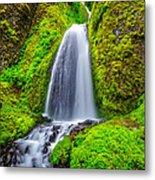 Wahkeena Falls Oregon Metal Print