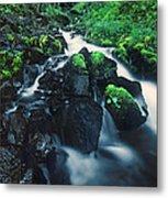 Wahkeenah Falls Columbia River Gorge Nsa Oregon Metal Print