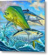 Wahoo Mahi Mahi And Tuna Metal Print