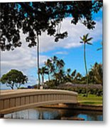 Waialae Beach Park Bridge Too Metal Print