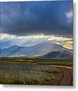 Waianae Mountains Of Oahu Hawaii Metal Print by Diane Diederich