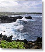 Waianapanapa Pailoa Bay Hana Maui Hawaii Metal Print