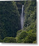 Wailua Stream Waiokane Falls View From Wailua Maui Hawaii Metal Print