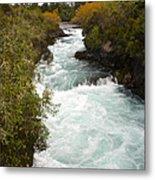 Waikato River Huka Falls Metal Print