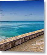 Waikiki Beach Walk Panoramic Metal Print