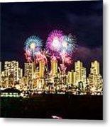 Waikiki Fireworks Celebration 2 Metal Print