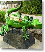 Waikiki Gecko Metal Print