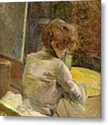 Waiting At Grenelle Metal Print