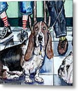 Waiting At The Vet's Office Metal Print by Chris Dreher