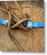 Waiting - Boat Tie Cleat By Sharon Cummings Metal Print