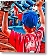 Waiting For A Foul Ball Metal Print