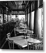 Waiting For Customers In New Orleans Mono Metal Print