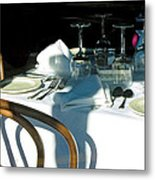 Waiting For Diners Metal Print