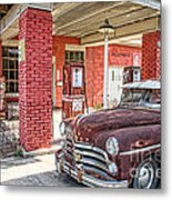 Waiting For Gas Metal Print