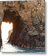 Waiting For Godot - Arch Rock In Pfeiffer Beach In Big Sur. Metal Print