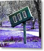 Waiting For Mail Metal Print