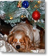 Waiting For Santa Metal Print