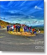 Waiting For The Cycle Race Metal Print
