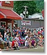 Waiting For The Parade Metal Print