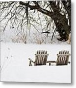 Waiting For The Right Season As An Oil Painting Metal Print