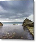 Waiting For The Storm Metal Print by Steve Caldwell