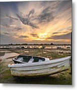 Waiting For The Tide Metal Print by Jacqui Collett