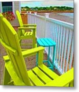Waiting For Tide And Sunset Metal Print