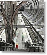 Waiting - Hollywood Subway Station. Metal Print