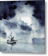 Waiting Out The Squall Metal Print