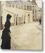 Waiting Paris Rue De Chanteaubriand Metal Print by Jean Beraud