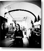 Waitress Metal Print