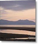 Tranquil Scene On Anglesey Coast Metal Print