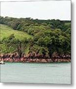 Wales Coastline Panorama Metal Print