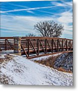 Walk Across Bridge Metal Print