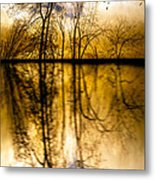 Walk Along The River Metal Print