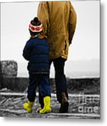 Walk Alongside Me Daddy Metal Print